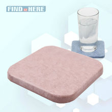 Cup Coaster Mat Water Absorbent Fast Drying Diatomite Drink Coasters Square Shape water Bottles Mats for Tea Coffee Beverage *NF