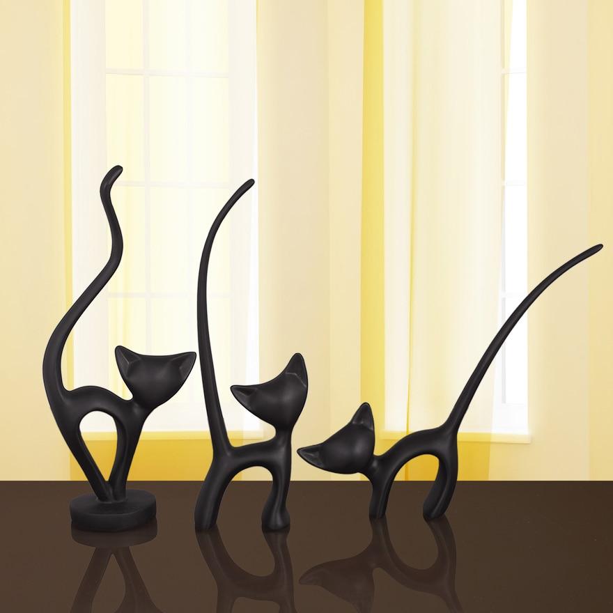 Le chat ornements bijoux ameublement moderne minimaliste résine artisanat chat décor ameublement