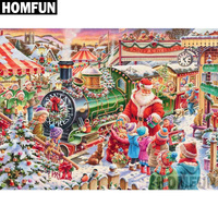 "HOMFUN Full Square/Round Drill 5D DIY Diamond Painting ""Christmas gift"" Embroidery Cross Stitch 5D Home Decor Gift A02736"