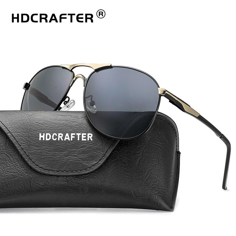 59654d0cc2d High Quality Sunglasses men polarized Brand Designer classic male Eyewear  UV400 pilot sun glasses driving gafas