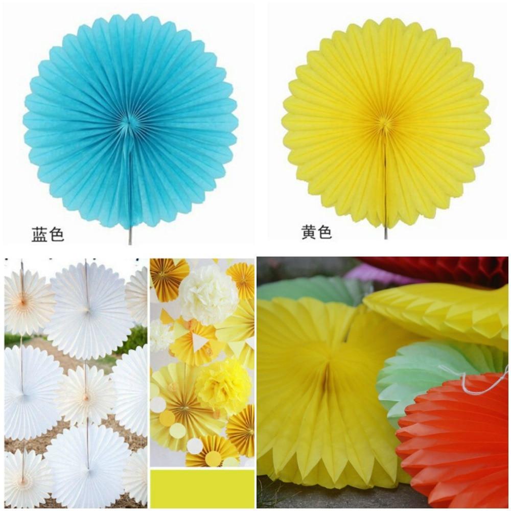 8 Inch 20cm 5pcslot Tissue Paper Fans Flowers Wedding Backdrops For