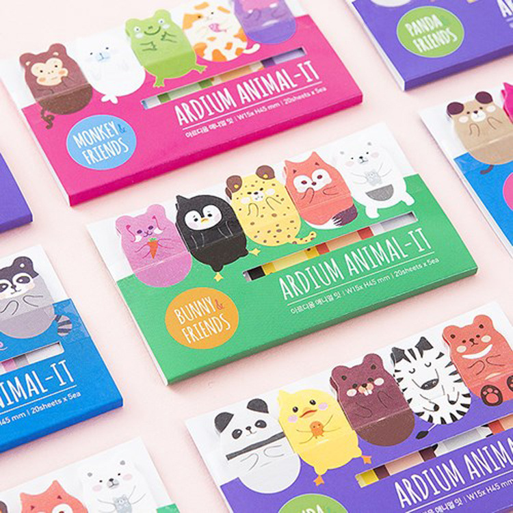Korean Stationery Lovely Animal memo pad sticky notes kawaii stickers planner Bookmark Subsidies office supplies BinFen