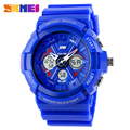 Men's Sports S-Shock Watches Digital Analog Women LED Electronic Date Watch relogio Feminino SKMEI 0966 50m Dive Army Wristwatch