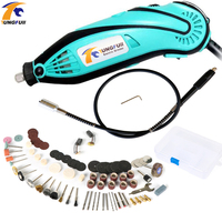 Tungfull Dremel Style Electric Mini Drill Electric Drilling Machine Rotary Tool Set Electric Engraver With Flexible