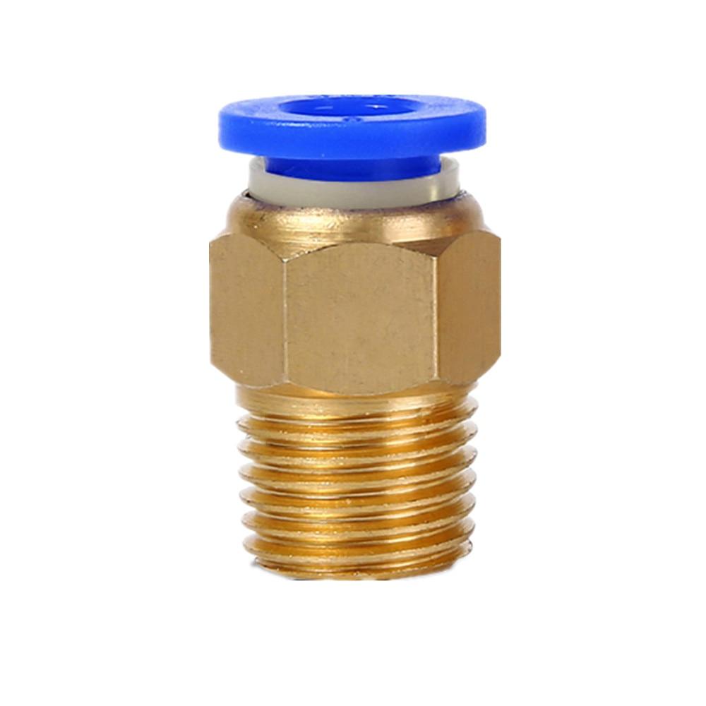 10pcs/lot M8 Pneumatic Connector PC4-M8 PC6-M8 PC8-M8 PC10-M8 M8*1.25mm Trachea Quick-release Straight Through J-head Feed
