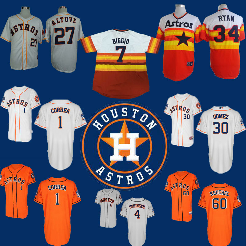 new style 7d5f6 29284 Houston Astros Jerseys 30 Carlos Gomez craig biggio 1 Carlos ...