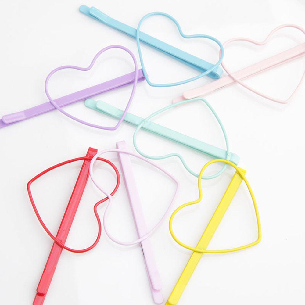 2pcs Cute Candy Color Kid Girl Hairpin BB Heart Hair Clips Hair Accessories Gift Hairpins Headwear forWomen Girls Hair Clips Pin