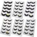 SHIDISHANGPIN 100 boxes natural long false eyelashes fluffy 3d mink lashes make up 100% cruelty free fake eyelashes faux cils