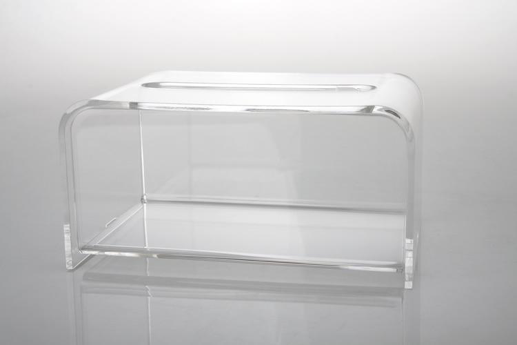 Modern Clear Acrylic Tissue Box Plastic Napkin Holder