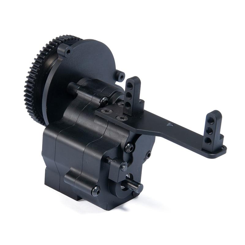 CNC aluminum transmission case Transfer box 2 Speed Transmission for Axial  Wraith 90048 1/10 RC Car Crawler