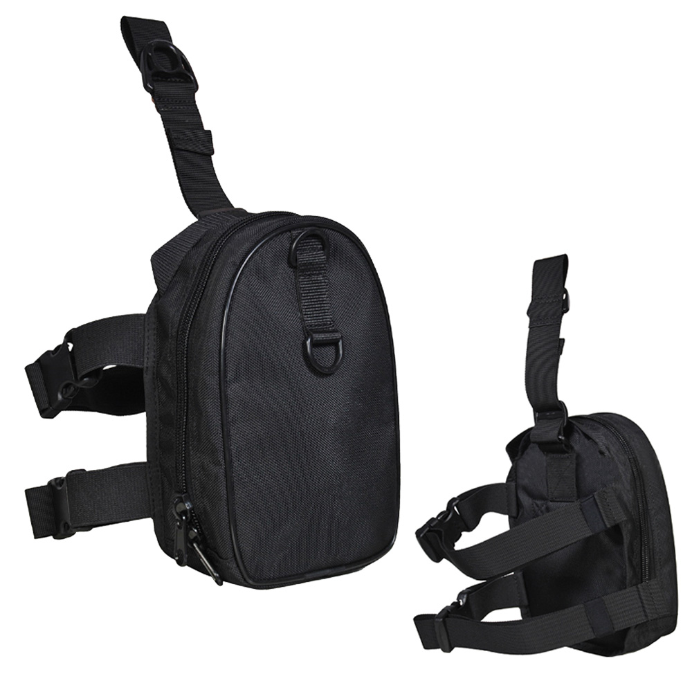 Pochette de rangement à fermeture à glissière pour plongeur poche cuisse avec sangles de ceinture de jambe sac de chargement de plongée pour plongeurs techniques