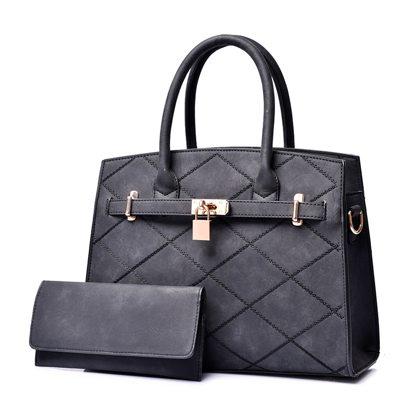 ФОТО Women Messenger Bags 2017 Vintage Plaid Bag Lock Shoulder Bag Women Leather Handbags Bolsa Feminina