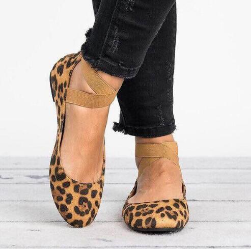 leopard Commerce Creux Ronde Simples Brown Faible Avec De Bretelles Taille gold 2018 Cheville Mode Print beige gray Grande Femmes Chaussures Extérieur Givré black Tête x7XqaPaHw