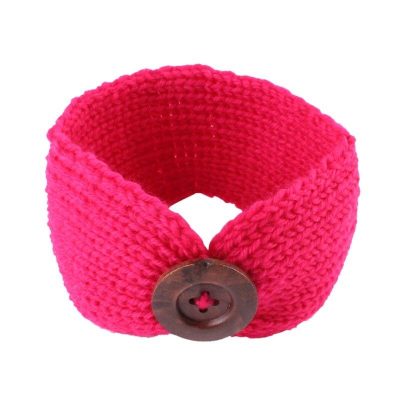 ᐂLos recién nacidos del bebé knit crochet turbante Headband warm ...