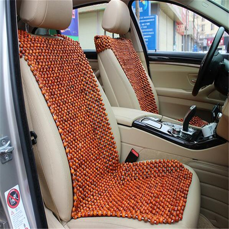 1 x summer car natural wooden bead cushion car summer maple wooden bead front rear seat cushion. Black Bedroom Furniture Sets. Home Design Ideas