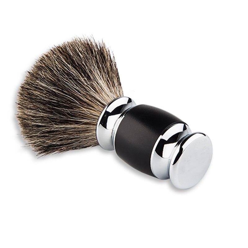 Férfi borotválkozó borotválkozó hajkefe Kézzel készített gyanta fogantyú fém él szél széles csomó bajusz borotválkozó eszköz