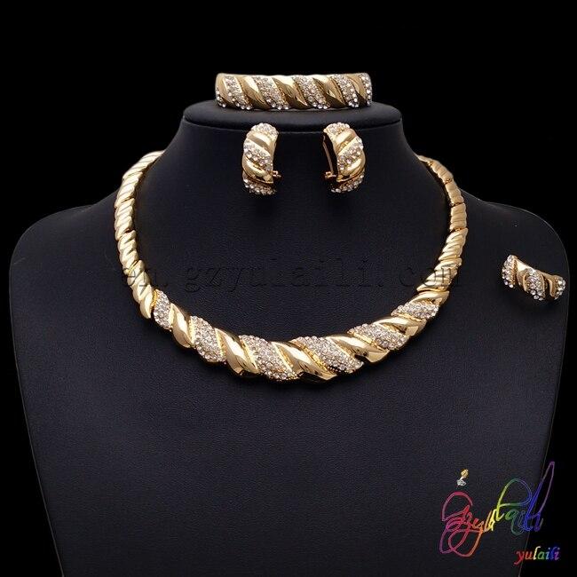 Déclaration bijoux 2016 gros bijoux fins Dubai ensemble de bijoux en or