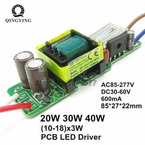 Image 5 - Controlador LED de 600mA, transformador de iluminación de lámpara de 3W, 10W, 18W, 20W, 30W, 36W, 40W, 50W y 60W, fuente de alimentación de luces para Exteriores de 1W 60W