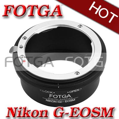 Fotga Adaptador de montaje para Nikon AF-S T Lente para Canon cámara sin espejo M para la lente ef/efs