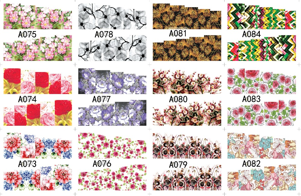 12 PACK/ LOT WATER DECAL NAIL ART NAIL STICKER SLIDER TATTOO FULL COVER CHRYSANTHEMUM SWEET-SCENTED A073-084 4 packs lot full cover white french smile lace tattoos sticker water decal nail art d363 366w