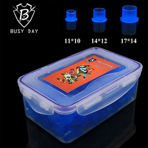 Disposables tattoo ink cups brand Sterile Self-standing blue color ink caps three size tattoo accessories for free shipping
