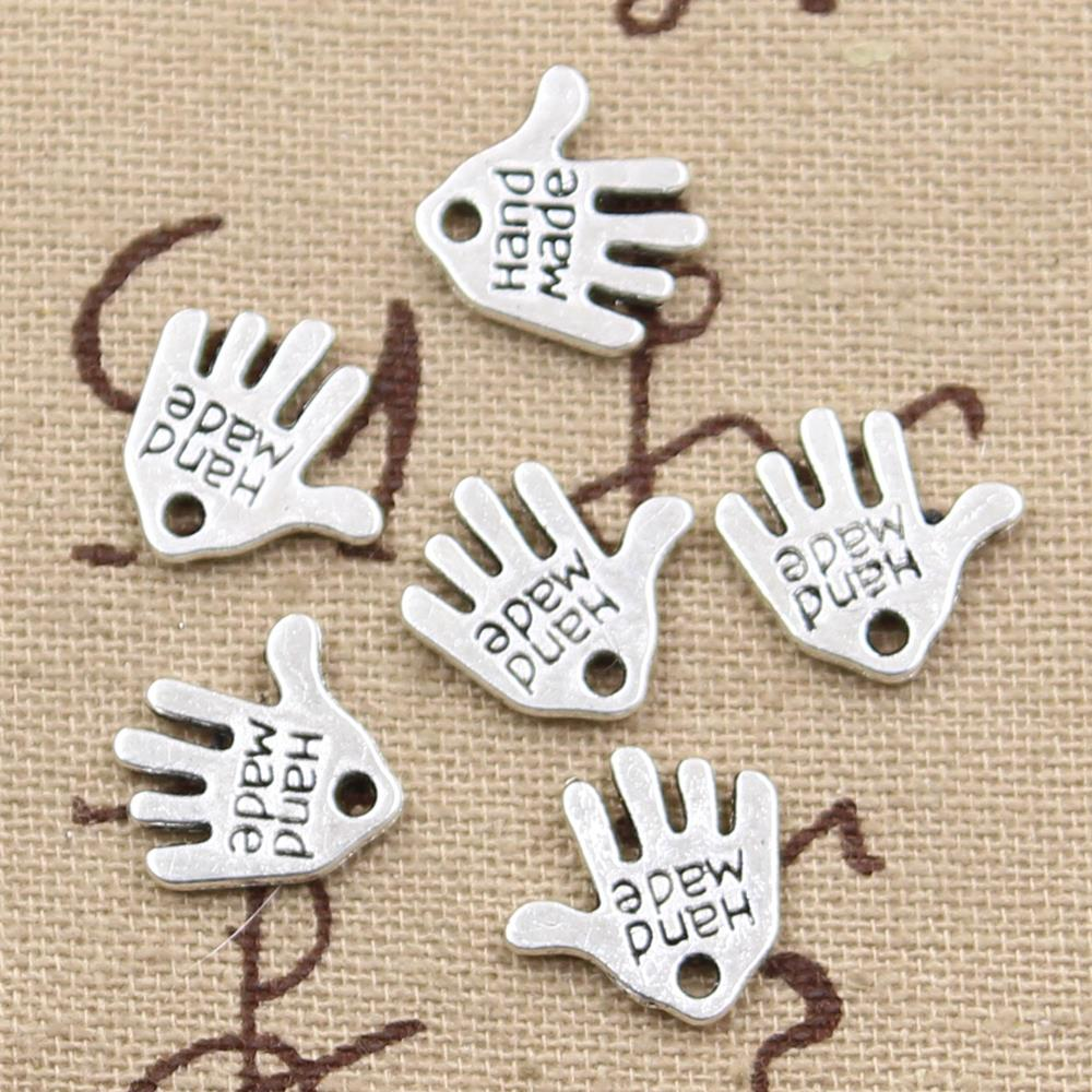 10PCs Gold Plated Grey Cat Face Pattern Metal Pendants Diy Jewelry 13x13mm GIFT