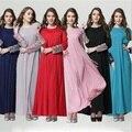 2017 Мусульманин абая платье для женщин Исламского платья дубай кафтан Исламская одежда Мусульманская абая Платье турецкий джилбаба хиджаб