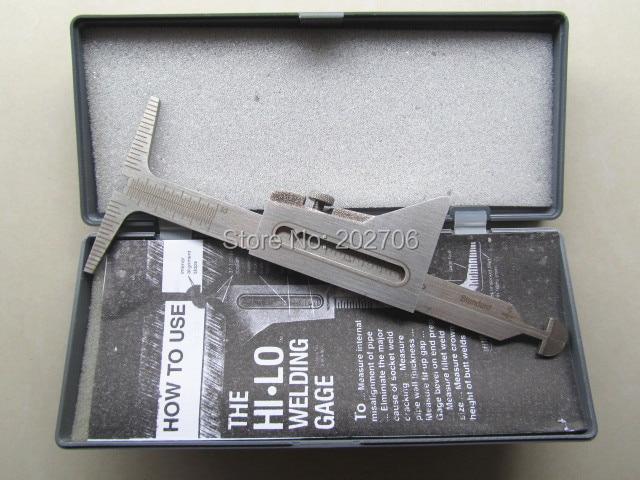 1 шт. HI-LO сварочная труба Калибр 0,5 точность сварочная инспекция метрический и стандартный точный сварочный тестер сварочная линейка