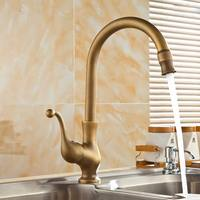 Free Shipping Bathroom Faucet Mixer Antique Brass Finishing Basin Faucets Single Hand Hot And Cold Wash