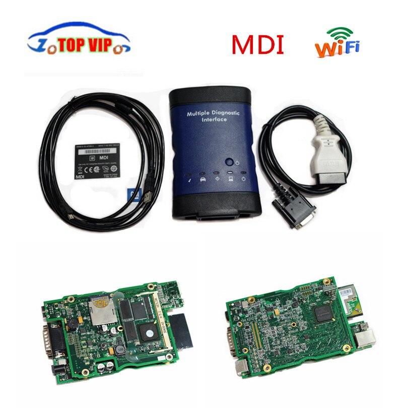 imágenes para 2017 Más Caliente NO HDD Wifi G---M MDI Interfaz de Diagnóstico Múltiple MDI OBD Escáner Automático de Alta Calidad envío libre de DHL