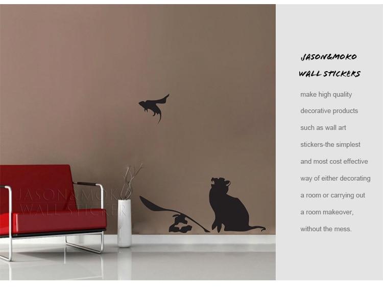 ᑎu rat en muis banksy muurstickers muurschildering behang voor