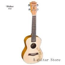 ukulele  Fashion carved spruce wood 23 inch ukulele  High Quality Stringed Musical Instrument