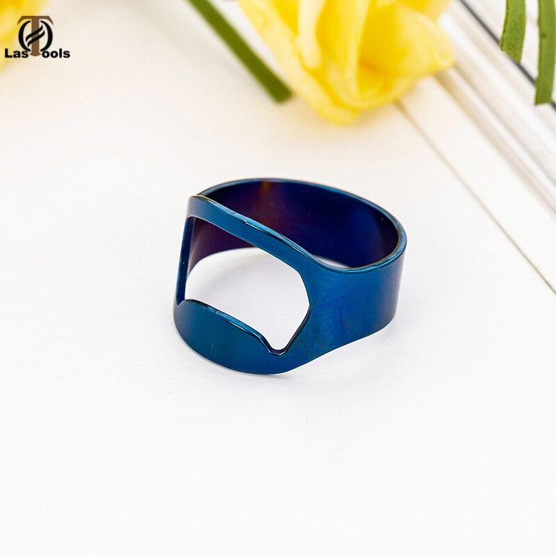1pc Multi-function Stainless Steel Colorful Ring-Shape Opener Beer Bottle Opener Diameter 22mm Creative Ring Quick Bottle Opener