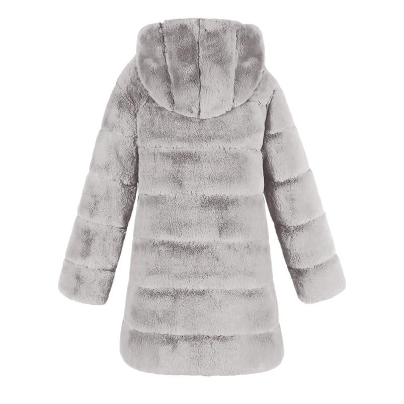 Zipper Winter Coat Women 2018 Sleeveless Fur Cashmere Hoodie Coat Girl Warm Pullover Thick Coat femenino #N28 (12)