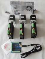CNC Mach3 Usb 3 Axis Kit 3pcs TB6600 1 Axis Driver Controller One Mach3 4 Axis