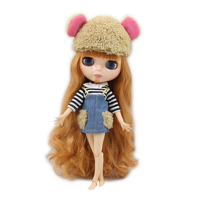factory blyth doll icy licca body BL2240/0145 golden orange hair natural skin joint body 1/6 30cm gift toy цена и фото
