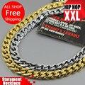 L90cm 100% 24 K banhado a ouro e platina Bieber Hiphop Franco homens colares de cadeia bijuterias