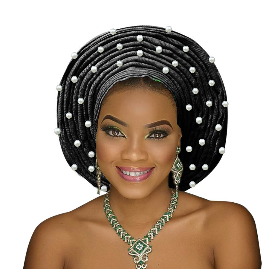 african headtie aso oke gele headtie african head wrap fashion nigerian aso ebi gele turban women aso oke head gear (13)