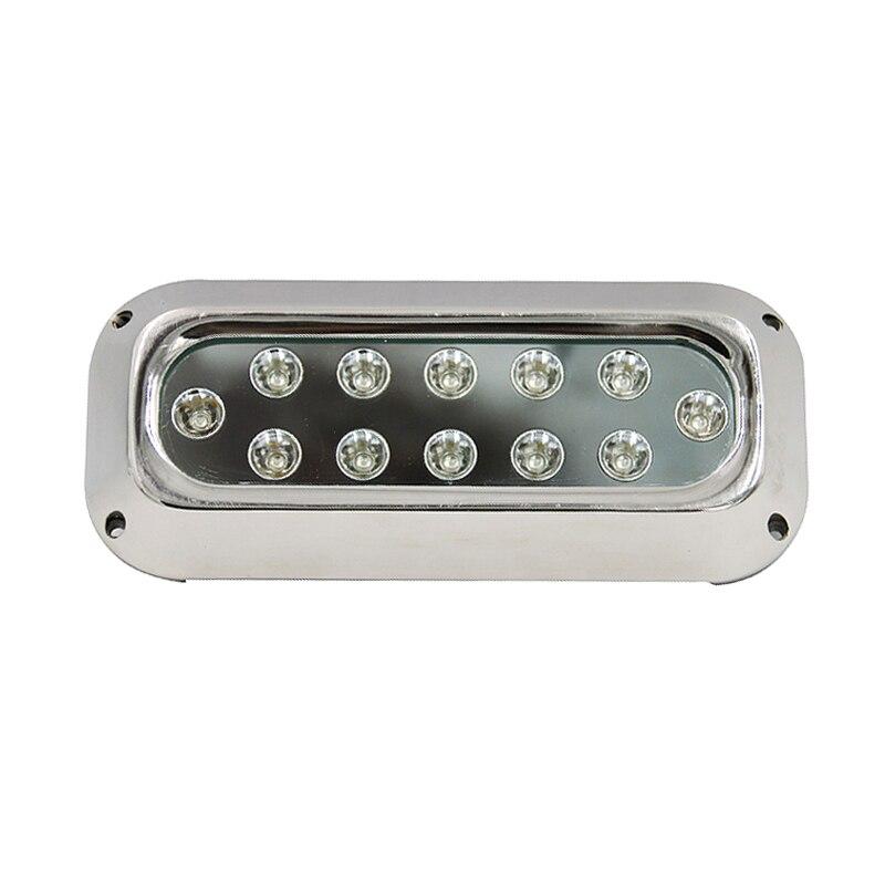 12-28 v 316 SS 60 w rectangulaire haute puissance IP68 LED étanche Marine lumière bateau sous-marin lumière TP-UD-220-60W
