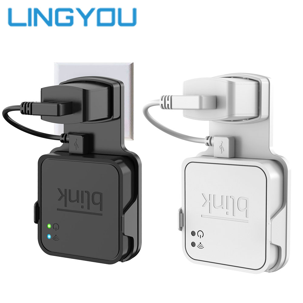 Original Outlet Wall Mount for Blink Sync Module with Short Cables for Blink XT Outdoor and Indoor Home Security Camera image
