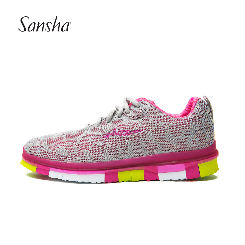 Sansha Sport Running Shoes Unique Piano Shape Outsole Breathable Mesh Super Light Material Sneakers EVS05M