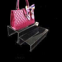 Acrylic Handbag Shoes Wallet Holder Display Rack Stands U Shaped
