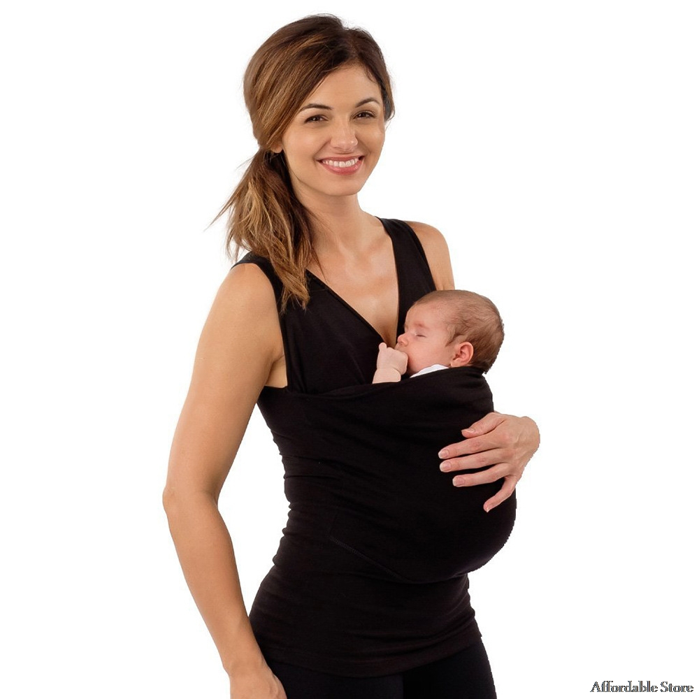 New Kangaroo clothes Baby Carrier for mother Sleeveless Big Pockets T-shirt Femme multifunction Clothing