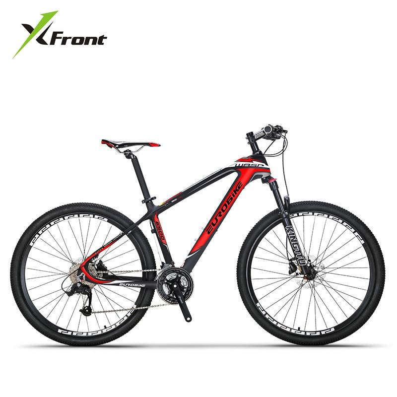 Cuadro De Carbono de Bicicleta de montaña para hombre y mujer, SHIMAN0, freno de disco hidráulico, rueda de 26, 27,5 pulgadas, 27, 30 velocidades