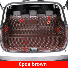 6pcs for Dongfeng AEOLUS AX7 2019 Trunk mat protect Decorative cover