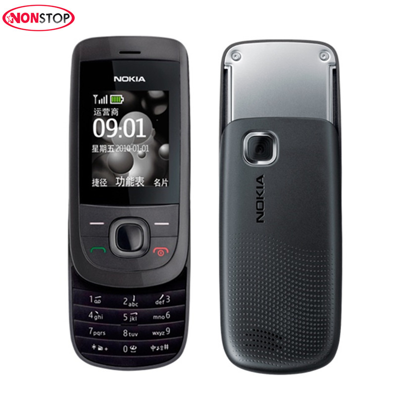Nokia 2220 Original Mobile Phones Single Core Slider Unlocked Nokia 2220s Cell Phones Mp3 Player Free Shipping Refurbished Phone