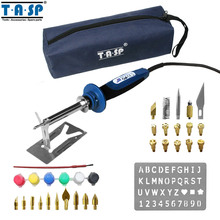 TASP MSI40 20W/40W Electric Wood Burning Pen Electric Soldering Iron Set with 34 Tips Accessories Storage Bag