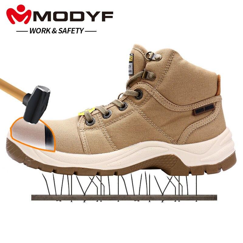 MODYF для мужчин's DESERT сталь носком кепки Рабочая Безопасность сапоги и ботинки для девочек модные удобные уличные защитная обувь