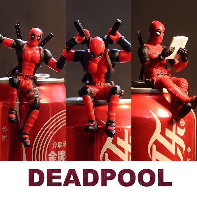 Marvel X-Men Deadpool 2 Action Figure Sitting Posture Model Anime Mini Doll Decoration PVC Collection Figurine Toys model