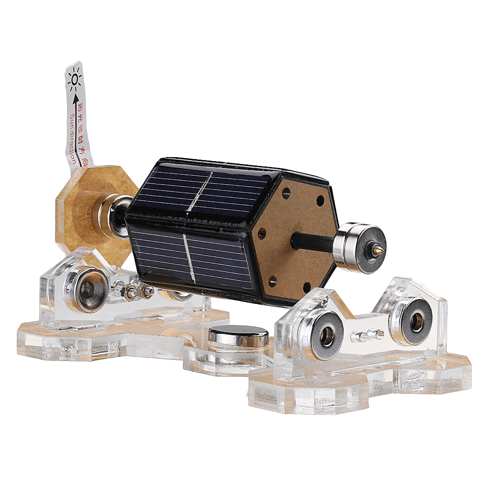 Solar Magnetic Levitation Motor Horizontal Levitating Stand Educational Model Gift